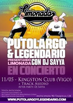 "PutoLargo y Legendario presentan ""Limonada"" en Vigo"