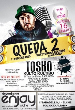 Queda 2 - 1º Aniversario Kurtyshona records and family en Elche
