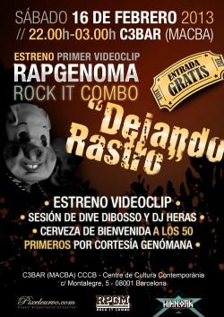 Rapgenoma, Dive Dibosso y DJ Heras en Barcelona