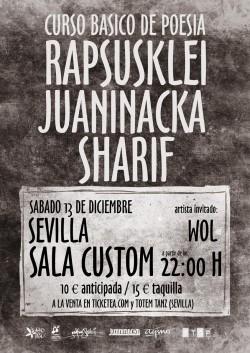 Rapsusklei, Juaninacka y Sharif en Sevilla
