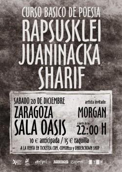 Rapsusklei, Juaninacka y Sharif en Zaragoza