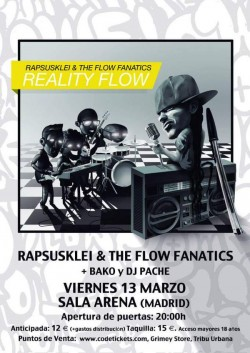 Rapsusklei, The flow fanatics, Bako y Dj Pache en Madrid