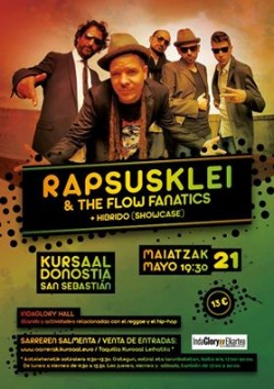 Rapsusklei & The flow fanatics en San Sebastian