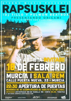 "Rapsusklei presenta ""Origami"" en Murcia"