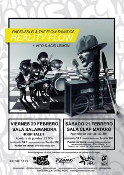 "Rapsusklei presenta ""Reality flow"" en Hospitalet De Llobregat"
