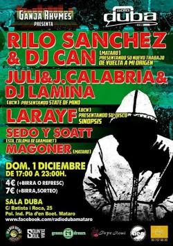 Rilo Sanchez, Dj Can, Juli, J. Calabria y más en Mataró
