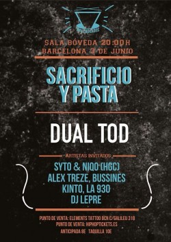 Sacrificio y pasta y Dual T.O.D en Barcelona