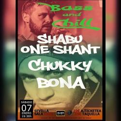 Shabu One Shant, Chukky y Bona en Sevilla
