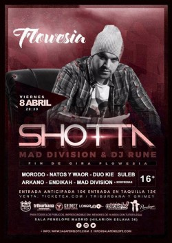 "Shotta fin de Gira ""Flowesía"" en Madrid"