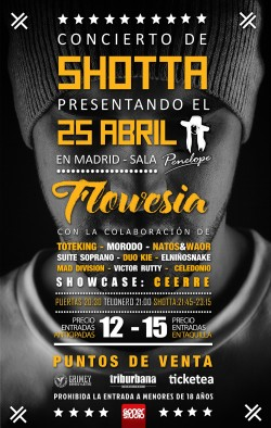 """Shotta presenta """"Flowesía"""" en Madrid"""