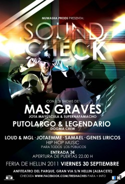 Soundcheck en Albacete en Hellin