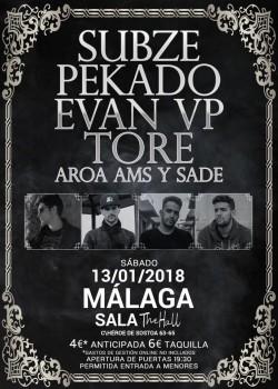 Subze, Pekado, Evan VP y Tore en Málaga