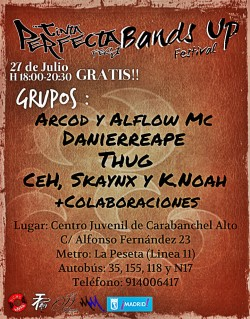 Tinta Perfecta Fest y Bands Up Festival en Carabanchel