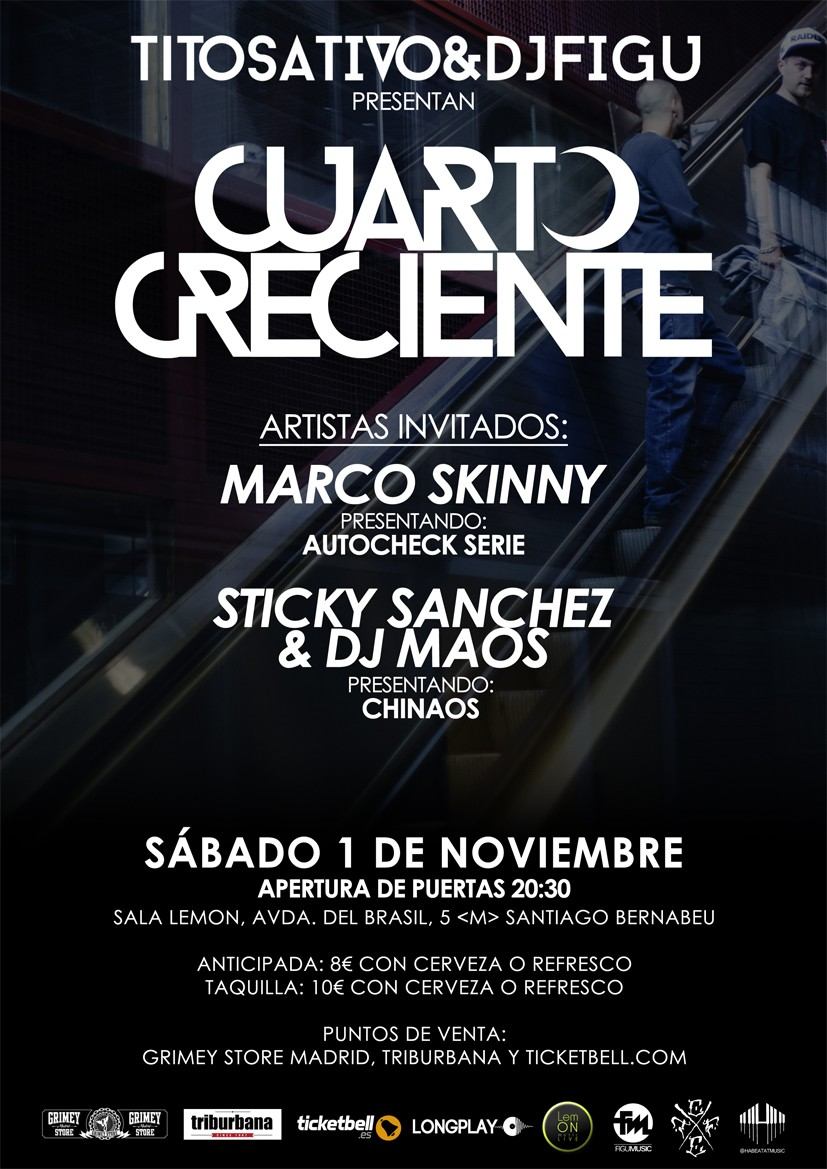 Tito Sativo y Dj Figu presentan \'Cuarto creciente\' en Madrid ...