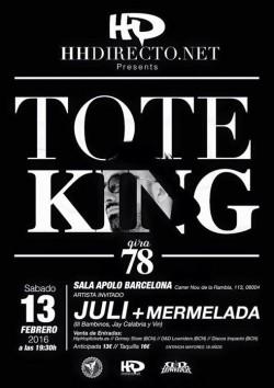 "Toteking presenta ""78"" en Barcelona"