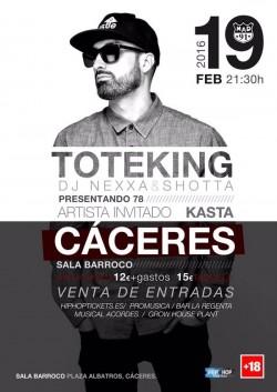 "Toteking presenta ""78"" en Cáceres"