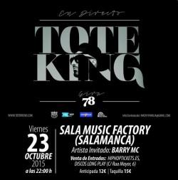 "Toteking presenta ""78"" en Salamanca"