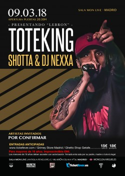 "Toteking presenta ""Lebron"" en Madrid"