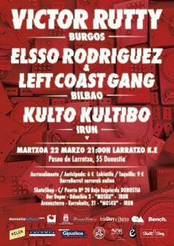 Victor Rutty, El$$o Rodríguez y Kulto Kultibo en San Sebastian