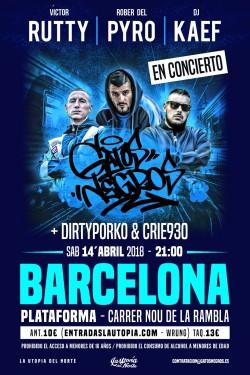 Victor Rutty, Rober del Pyro y Dj Kaef en Barcelona