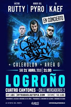 Victor Rutty, Rober del Pyro y Dj Kaef en Logroño