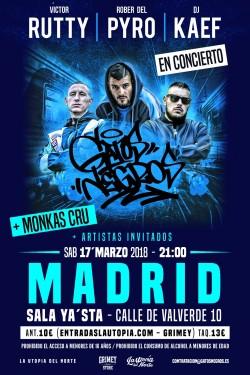 Victor Rutty, Rober del Pyro y Dj Kaef en Madrid