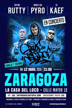 Victor Rutty, Rober del Pyro y Dj Kaef en Zaragoza