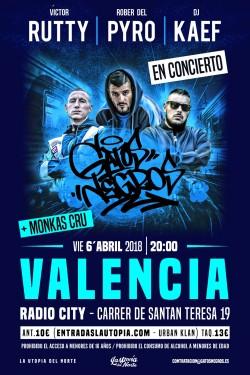 """Victor Rutty, Rober del pyro, Dj Kaef """"Gatos negros"""" en Valencia"""