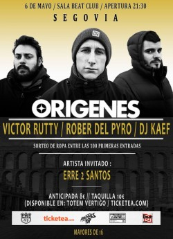 Victor Rutty, Rober del pyro, Dj Kaef y Erre 2 santos en Segovia