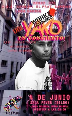 Yako Muñoz en concierto en Bilbao