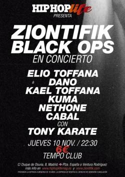 Ziontifik Black Ops en Madrid
