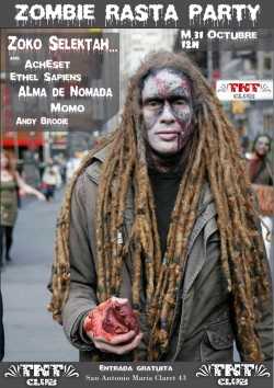 Zombie Rasta Party en Zaragoza