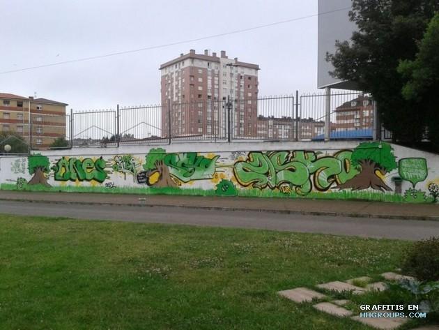 Anes, Soke y Zisko en Gijón (Asturias)