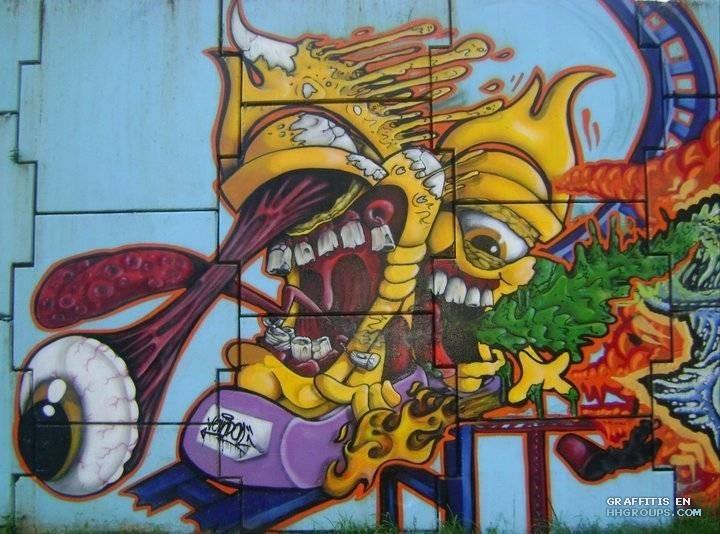 Graffiti de Angel en lugar desconocido
