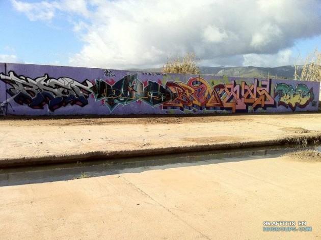 Bsof, Melo, Bram, Wins y Pike en Gava (Barcelona)
