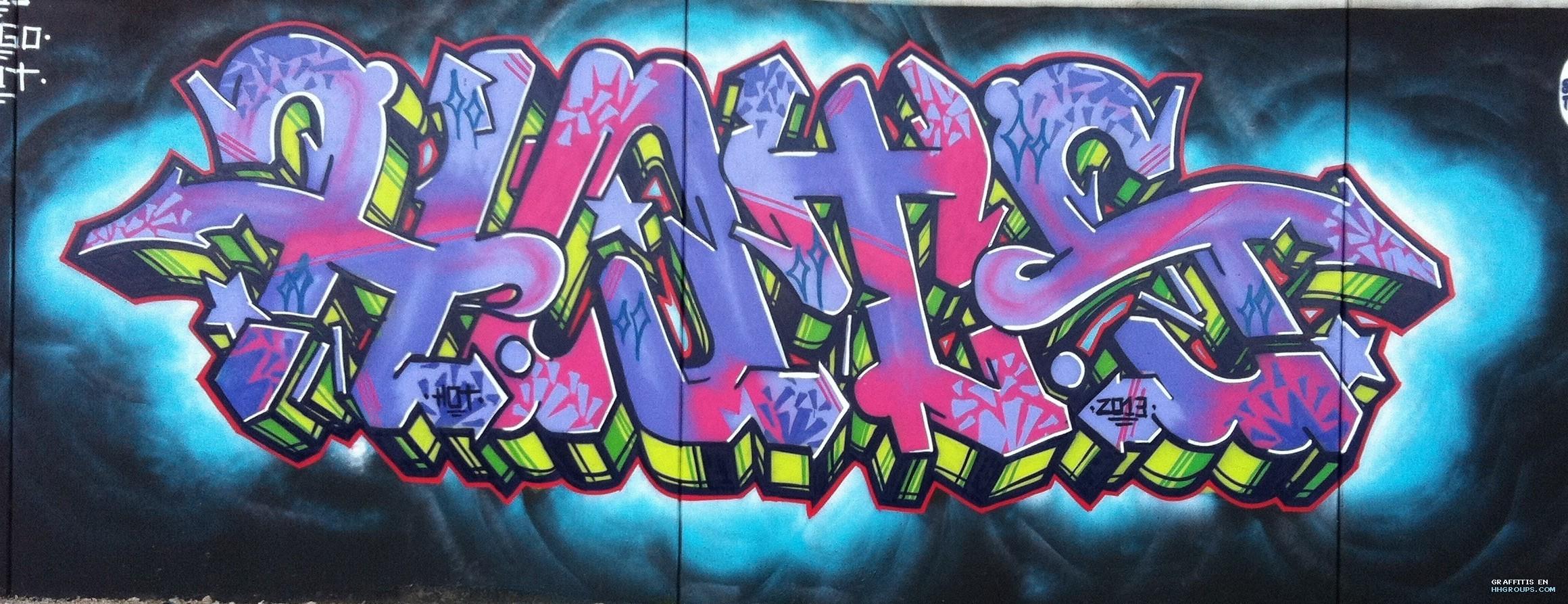 Graffiti de Hot en Madrid
