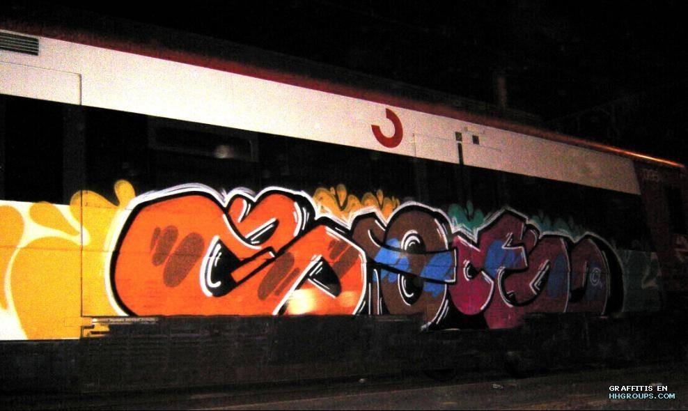 Graffiti de Zoe en Barcelona